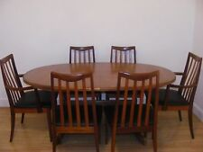 G PLAN MID CENTURY TEAK DINING TABLE AND 6 CHAIRS