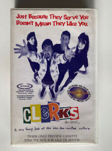 Clerks + Fresh [VHS] 21st Century Video Store Promo Preview Tape Kevin Smith