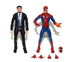 Marvel Legends Pizza Spiderman Homecoming Iron Man Tony Stark Black Suit Figure
