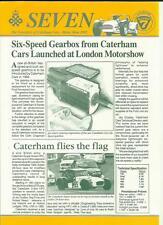 "Coche oficial Caterham ""siete boletín' ' folleto de prensa"" Hoja Motor Show 1993"