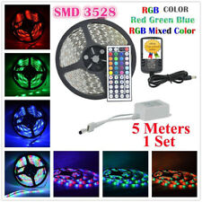 5M SMD 3528 RGB LED Streifen Strip Leiste Kette Lichter Band Trafo  60 LED / m