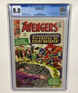 Avengers #13 CGC 8.0 KEY! (1st Count Nefaria! Fantastic Four) 1965 Marvel Comics