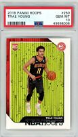 2018 Panini Hoops #250 Trae Young Rookie PSA GEM MINT 10