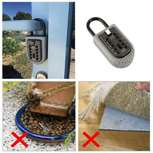 Wall Mounted Digit Security Combination Key Lock Storage Box Safe Outdoor Car