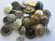 BUTTON Pack Metal and Plastic Silver Brass Coloured LOCATED IN AUSTRALIA A02