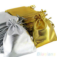 25Pcs Drawstring Organza Gift Bags Jewelry Party Favor Wedding Candy Pouch Newly
