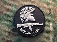 Molon Labe AK47 Spartan Helmet Round Black PVC Tactical Hook Morale Patch Greek