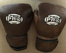 $145 Professional Fight Gloves Proboxing 12oz Brown Grain Leather