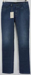 New Brioni Meribel Mens 30 x 35 Slim Dark Blue Denim Stretch 5 Pocket Jeans $790