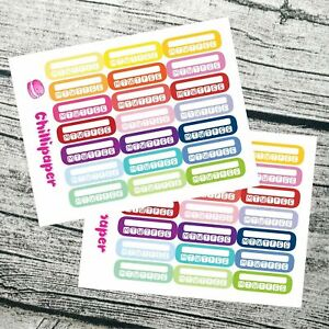 Habit tracker    Bujo stickers   weekly checklist   Planner Stickers #1090