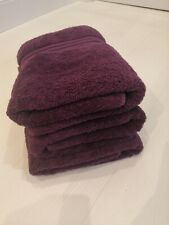 Dunelm Bath Towels Purple X 3