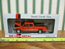 Orange Chevrolet Silverado Pickup By DCP 1/50th Scale
