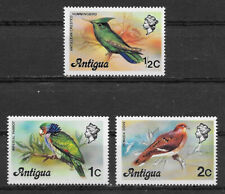 ANTIGUA , 1976 , BIRDS ,  SET OF 3  STAMPS , MNH
