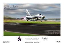 English Electric Lightning F.6, 23 SQD. Raf leuchars Digital Art Print