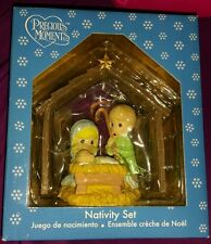 Precious Moments Nativity Set 2009 New in Box! 4 piece set manger, figurines