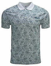 Lambretta Cotton Paisley Polo Shirts Mens Printed T-Shirts Summer Tees UK S-4XL