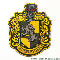 """HARRY POTTER """"HUFFLEPUFF"""" EXTRA LARGE Embroidered Robe Patch"""