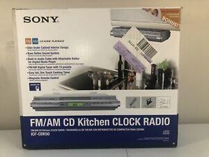 Sony AM/FM CD Kitchen Clock Radio under cabinet ICF-CDK50: New Open Box