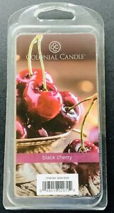 2 COLONIAL CANDLE BLACK CHERRY WAX MELTS 6 Per PACKAGE - 12 Total
