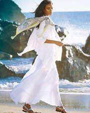 Johnny Was  Crochet Sleeveless Wrap Cotton boho Vest white NWT S $245.00