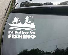 Rather Be Fishing Funny Car/Window JDM VW EURO Vinyl Decal Sticker