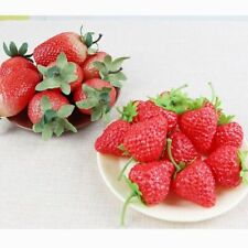 Fake Artificial Fruit Strawberry Decor Home Party Kitchen Plastic Fruits House