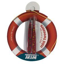 Trim Mini Tweezers New 2 Pair Slant and Point Tips Stars