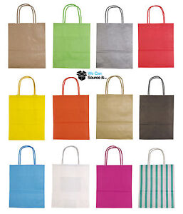 PAPER LOOT GIFT PARTY BAGS HANDLES WEDDING BIRTHDAY (TWISTED) Small Size