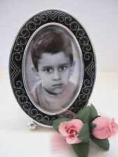 "Brighton ""IVORY COAST"" Oval Black Picture Frame (MSR$38) NWT/Box"
