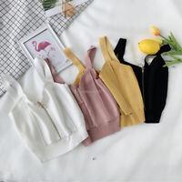 Women Zipper Sleeveless Blouse Chain Tank Vest Casual Short Crop Tops Cami Shirt