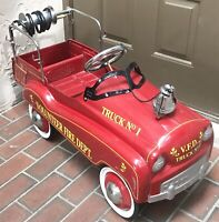 GEARBOX PEDAL CAR VOLUNTEER FIRE DEPT PEDAL ENGINE TRUCK NO.1 w/BELL & HUBCAPS
