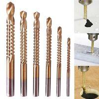 6 pcs Woodworking Wood Metal Cutting Hole Saw Holesaw HSS 4241 Ti Step Drill Bit