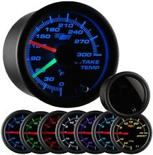 GlowShift Tinted 7 Color Series Dual Intake Temperature Gauge