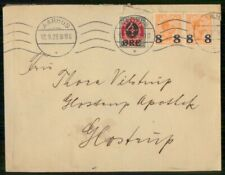 Mayfairstamps Denmark 1923 Aarhus to Glastrup Multifranked cover wwe93163