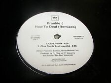 """Frankie J How To Deal Remixes 12"""" Single Sealed Columbia 44-080133 2005"""