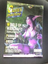 THE GAMES MACHINE 182 WORLD OF WARCRAFT PAINKILLER BREED UNREAL TOURNAMENT