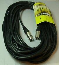 Proel Livewire Male XLR to Female XLR Mic / Signal Balanced Cable 15M - Black