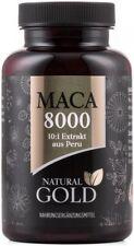 Maca Extrakt 8000 Natural Gold Peru vegan 180 Kapseln hochdosiert 400mg Pulver