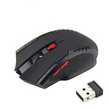 2.4GHz Wireless Optical Gaming Mouse for PC DPI Adjustable Black