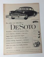 Original Print Ad 1951 DESOTO De Soto Vintage Auto Car NO Other rides Like a