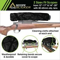 "NX Scope Slicker 12-17"" Waterproof, Neoprene Rifle Scope Cover Scope protection"