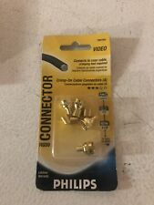 New Philips Coaxial RG-59 Crimp Type Connector-1 pack of 4 PH61024-Free Shipping