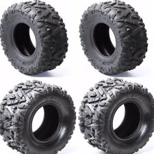 "2Pairs 19x7-8/""+18x9.5-8/"" FRONT+REAR TIRES TUBELESS FOR ATV QUAD UTV BIKE TYRES"