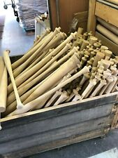 24 FIRST QUALITY UNFINISHED MAPLE BATS need to round, trim, paint and finish!