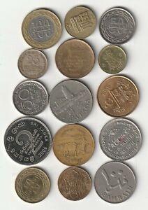 ☆ NEPAL + BAHRAIN + MACAO + SRI LANKA : Lote de 15 monedas distintas