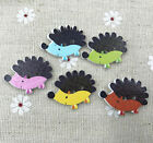 Hedgehog Wooden buttons Mix-color 2-hole Sewing scrapbooking crafts 25mm