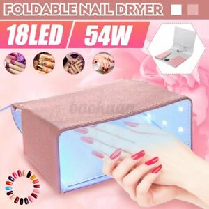 54W 18LED Foldable Nail Dryer Lamp Gel Polish Light Manicure Curing Salon Kit