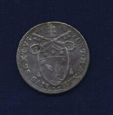 ITALY /ITALIAN STATES - PAPAL STATES  PIUS VI  1796 SILVER TESTONE, VF/XF