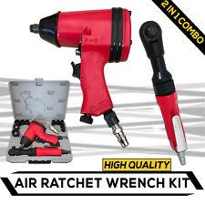 17pc -2 in 1- Air Impact Ratchet Wrench Kit Rattle Gun Socket Tool Set Pneumatic