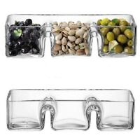 Unique Artisan Hand Crafted Glass Serving Snack & Dip Bowl Choice of 2